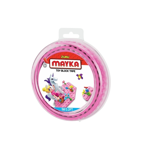 [30%할인] 맥스블럭 놀이판롤 1m 2Stud (메이카블럭 1m 2Stud) / 분홍(Pink) / 쿠폰적용불가