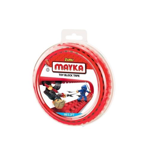 [30%할인] 맥스블럭 놀이판롤 1m 2Stud (메이카블럭 1m 2Stud) / 빨강(Red) / 쿠폰적용불가
