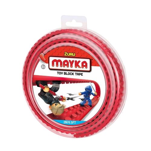 [30%할인] 맥스블럭 놀이판롤 2m 2Stud (메이카블럭 2m 2Stud) / 빨강(Red) / 쿠폰적용불가